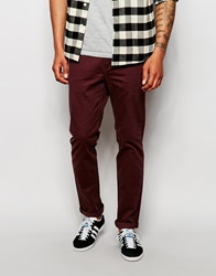 Cheap Monday Slack Chinos Slim Fit Oxblood