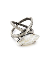 Kendra Scott Rosemary Cocktail Ring Ivory Silver