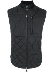 Save The Duck Quilted Waistcoat Polyester S Black