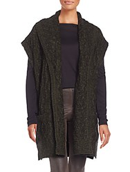 Alice Olivia Darryl Open Front Cardigan Army Black