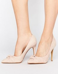 Head Over Heels By Dune Arria Knot Point Court Shoes Nude Beige