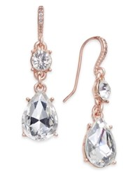 Charter Club Rose Gold Tone Crystal Drop Earrings Created For Macy's