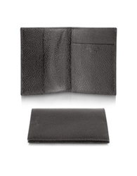 Pineider Country Genuine Leather Passport Holder Dark Brown