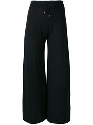 Barrie Fine Knit Cropped Trousers Black