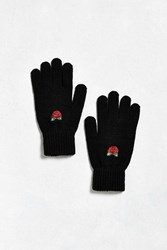 Urban Outfitters Rose Glove Black