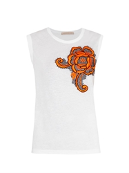 Christopher Kane Flower Embroidered Tank Top
