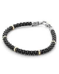 Lagos Black Caviar Ceramic Bracelet With 18K Gold And Sterling Silver Black Gold