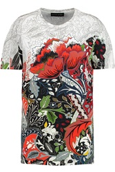 Jonathan Saunders Selden Printed Cotton Jersey T Shirt Red