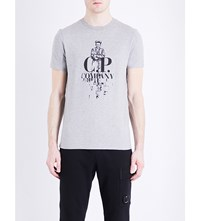 C.P. Company Cp Sailor Graphic Cotton Jersey T Shirt Grey