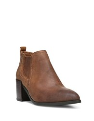 Fergie Magic Distressed Leather Bootie Cuoio