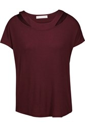 Kain Label Ula Cutout Modal T Shirt Burgundy