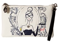 My Flat In London Drink Champagne Zip Pouch Natural Black Wristlet Handbags Beige