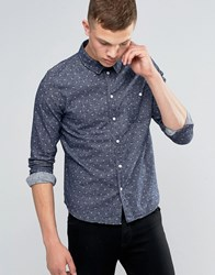 Another Influence Dot Pattern Shirt Navy