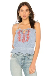 Auguste Ivy Embroidered Cami Top Blue