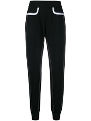 No Ka' Oi Stitching Detail Sport Track Pants Black