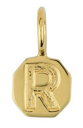 Women's Baroni Stamped Initial Charm Gold R