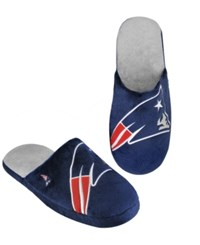 Forever Collectibles Men's New England Patriots Big Logo Slippers Navy Red