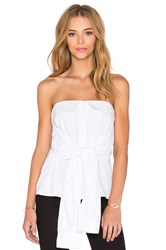 Mlm Label Bustier Strapless Top White