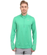 Nike Dri Fit Element Half Zip Pullover Spring Leaf Reflective Silver Men's Long Sleeve Pullover Green