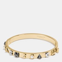 Coach Hinged Bangle Gold Multicolor