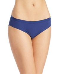 Dkny Solid Microfiber Hipsters Navy