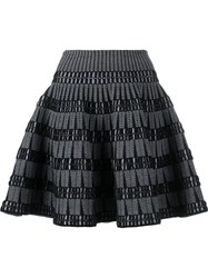 Alaia Structured Jacquard Skirt Black