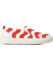 Au Jour Le Jour Slip On Sneakers Red