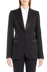 Dolce And Gabbana Women's Wool Blend Crepe Tuxedo Jacket