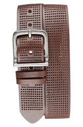 Men's Bill Adler 1981 Perforated Leather Belt Brown
