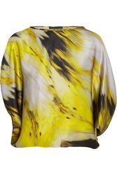 Maria Grachvogel Tempera Printed Silk Satin Top
