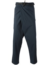 Transit Drop Crotch Tapered Trousers Blue