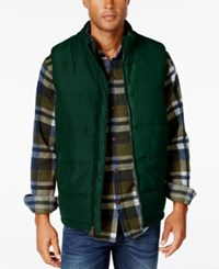 Weatherproof Vintage Men's Big And Tall Puffer Vest Pine