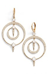 Nadri Women's Gwen Crystal Hoop Drop Earrings Gold