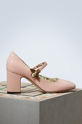 Gucci Patent Leather Pumps With Bee Perf.Pink Perf.Pink