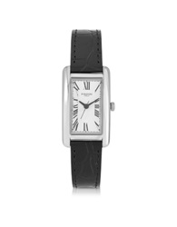 Forzieri Andromeda Steinless Steel Women's Watch W Croco Embossed Leather Strap