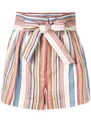 Frame Striped Tie Waist Shorts Multicolour