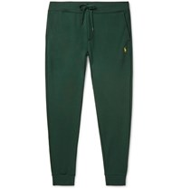 Polo Ralph Lauren Tapered Logo Embroidered Jersey Sweatpants Green
