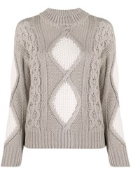 Lorena Antoniazzi Mixed Knit Jumper 60