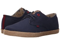 Ben Sherman Prill Lace Up 2 Navy Canvas Men's Lace Up Casual Shoes Blue