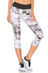 Solow Weathered Camo Capri Legging Black And White