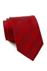 English Laundry Grid Silk Tie Red