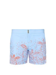 Vilebrequin Merise Printed Tailored Swim Shorts Light Blue