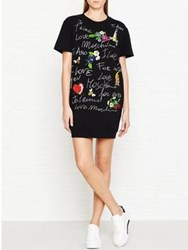 Love Moschino Je T'aime T Shirt Dress Black