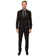 Kenneth Cole Reaction Slim Fit Tuxedo Black Men's Suits Sets