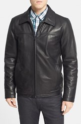 Men's Vince Camuto Insulated Leather Moto Jacket Black
