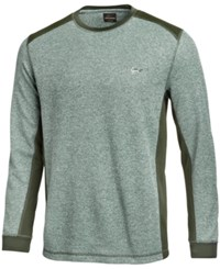 Greg Norman For Tasso Elba Colorblocked Thermal Shirt Only At Macy's Dark Marine Opd