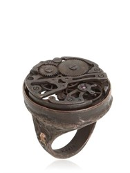 Cantini Mc Firenze Steampunk Ring With Mechanical Movement