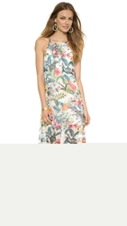 Wayf Pleat Front Dress Tropical Print