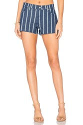 7 For All Mankind Cut Off Short Luxe Lounge Seaside Stripe