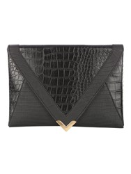 Jane Norman Black Croc Clutch Bag